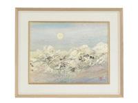 moon light on mountain by hanji toyoaki