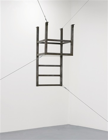 Untitled (suspended Chair, Vertical) By Bruce Nauman