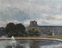 bassin aux tuileries by anatole eugène hillairet