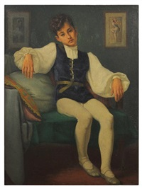 portrait of a boy dancer by ceferino carnacini