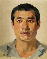 male portrait by liu yiwen