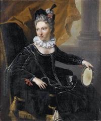 portrait d'homme (+ portrait de femme; pair) by christoffel lubieniecki