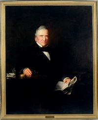 portrait of general cadwalader seated at a table by susan hannah macdowell eakins