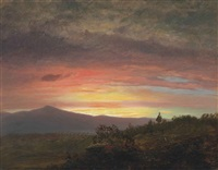 twilight, mount ktaadn by frederic edwin church