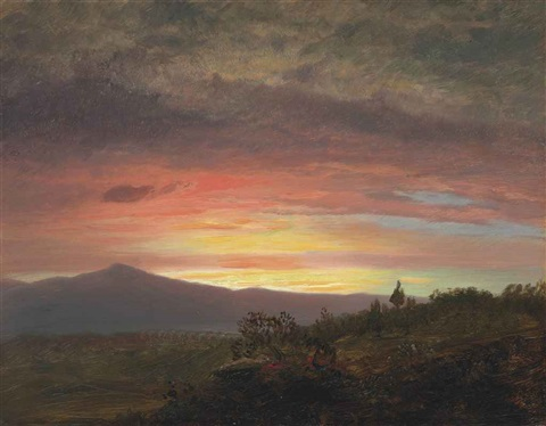 twilight, mount ktaadn by frederic edwin church