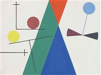 triangles, cercles by sophie taeuber-arp