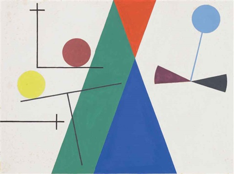 triangles cercles by sophie taeuber arp