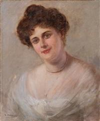 retrato de dama by rafael argeles y escriche