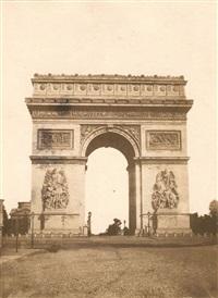 l'arc de triomphe, paris by françois auguste renard