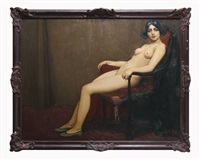 femme nue assise by ernest marneffe
