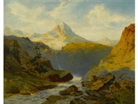 a river in the alps by alexandre calame