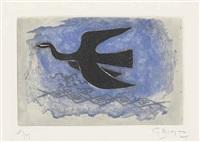 oiseau noir sur fond bleu (oiseau viii) by georges braque