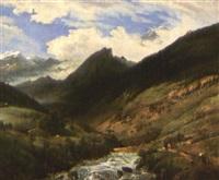 vue du saint-gothard by robert léopold leprince