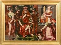 le jugement de salomon by master of the prodigal son