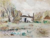 paisaje con rancho by enrique policastro