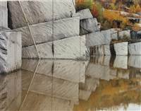 rock of ages #2, granite quarry, beebe, quebec by edward burtynsky