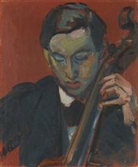 der cellospieler (hans münch) by cuno amiet
