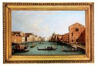 a velencei canale grande felső szakasza a santa croce templommal (follower of canaletto) by francesco tironi