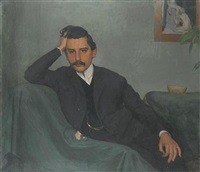 portrait of prof. robert hofstatter by emanuel baschny