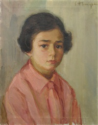 little girl in pink by calin alupi