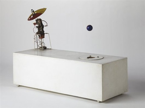 robot with flying object number three by enrique castro cid