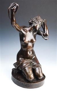 femme au serpent by alfred desiré lanson