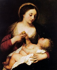 madonna and child by antonio de pereda y saldago