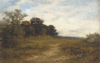 on the hill, alkham, kent, a sketch from nature by carl brennir