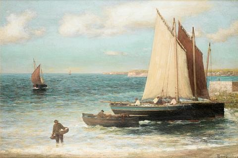 outside the harbour largo fife by alexander young