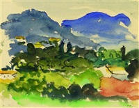 landschaft in der provence by hans olde