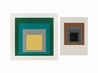 from homage to the square (2 works) by josef albers