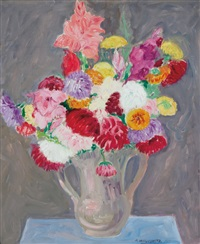 floral still life by abraham walkowitz