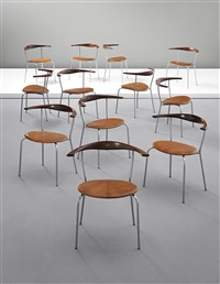 stackable armchairs, model no. jh701 (set of 12) by hans j. wegner