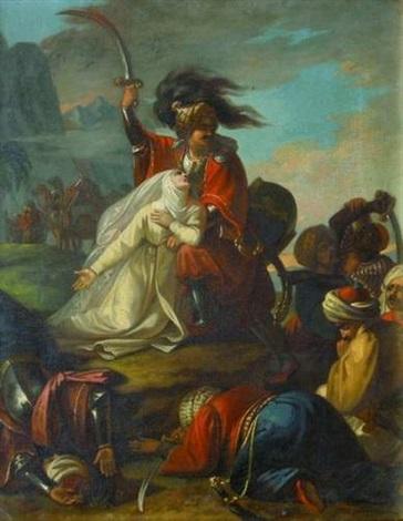 malek achad sauve la nonne mathilde de l'attaque turque by cesare mussini