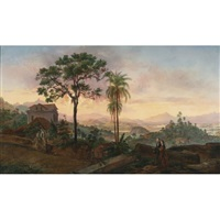 view of rio de janeiro from the hotel de sta. thereza by nicolau antonio facchinetti