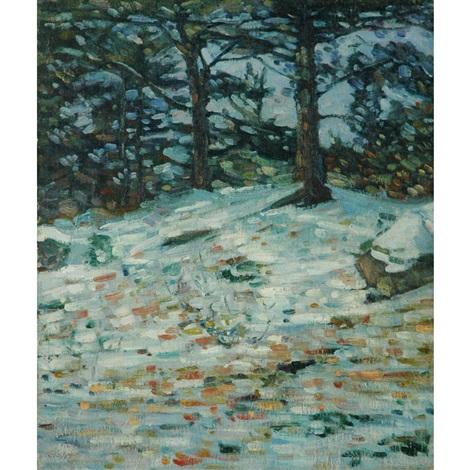 winter woods by charles salis kaelin