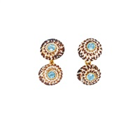 shell and aquamarine cufflinks (pair) by trianon (co.)