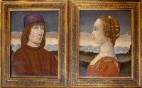 florentine portraits (pair) by sandro botticelli