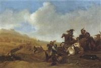 scontro di cavalleria by nicolas de hoey the younger