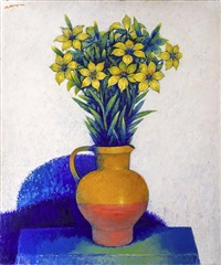 still life with narcissus by georges akopian
