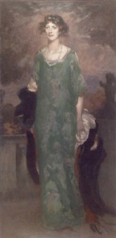 the green dress by henry john lintott