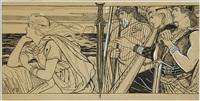 illustration for king fjalar by albert edelfelt