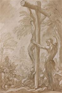 la crucifixion d'un saint by domenico piola
