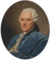 portrait d'homme en habit bleu by jean françois gilles colson