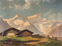 view on the alps by hans sengthaler