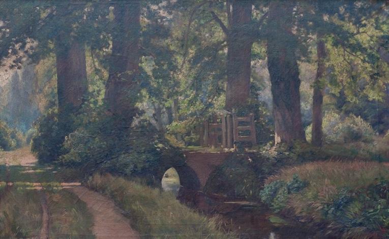 paisaje con puente by gerard ger jacobs