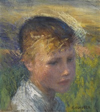 head of a girl by sir george clausen
