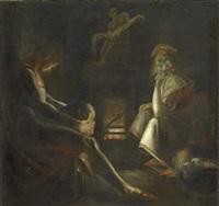 schweigen (eine mutter mit ihren zwei kindern) by henry fuseli