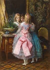 in their fanciest dresses by eugene joseph lejeune
