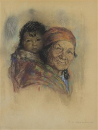 mother and papoose by nicholas de grandmaison